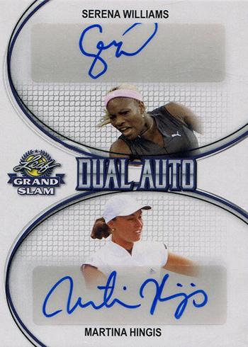 2018 Leaf Grand Slam Tennis Dual Autographs Serena Williams Martina Hingis