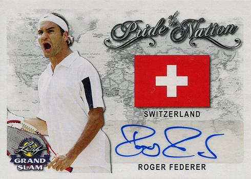 2018 Leaf Grand Slam Tennis Pride of the Nation Roger Federer Autograph
