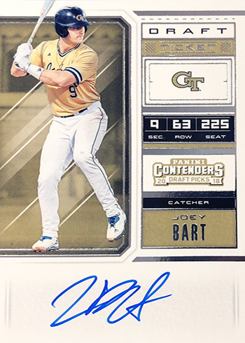 2018 Panini Contenders Draft Picks Baseball Joey Bart Autograph