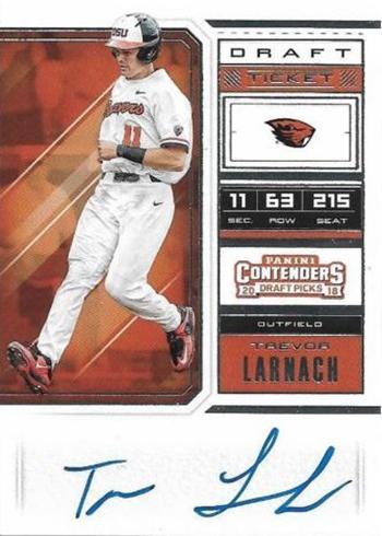 2018 Panini Contenders Draft Picks Baseball Trevor Larnach Autograph