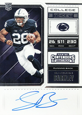 huge discount 24eeb 1b5e7 Saquon Barkley Is the New King of New York - Beckett Pricing ...