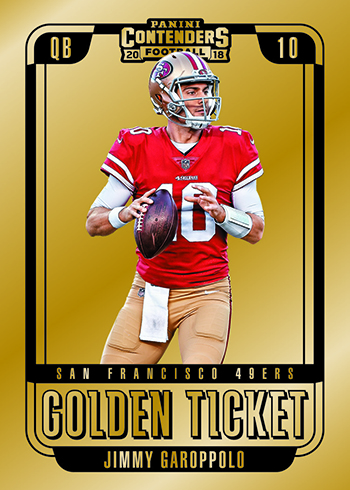 2018 Panini Contenders Football Golden Ticket
