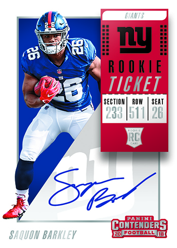 2018 Panini Contenders Football Rookie Ticket Autograph Barkley