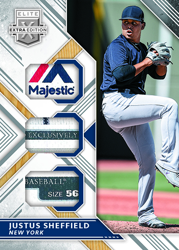 2018 Panini Elite Extra Edition Baseball Triple Material