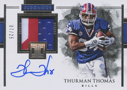 2018 Panini Impeccable Football Elegance Retired Patch Autographs Thurman Thomas