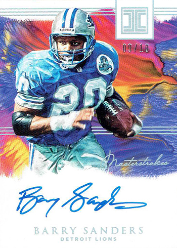 2018 Panini Impeccable Football Masterstrokes Barry Sanders