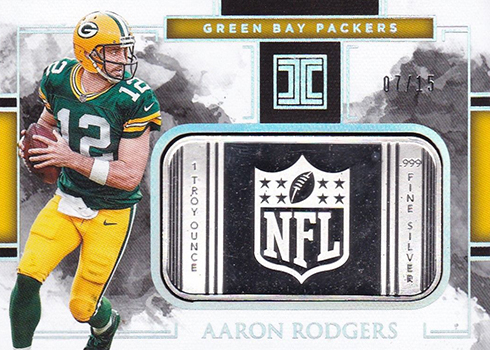 2018 Panini Impeccable Football Silver NFL Aaron Rodgers