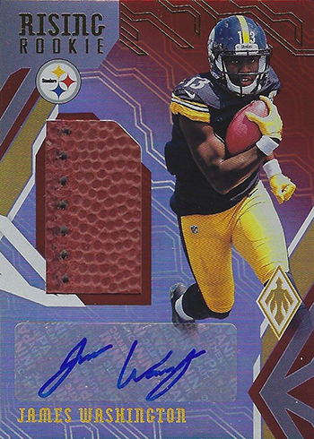 2018 Panini Phoenix Football Rising Rookie Material Football James Washington