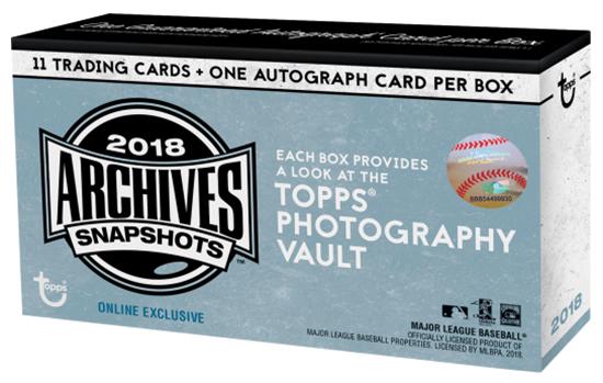 2018 Topps Archives Snapshots Baseball Box