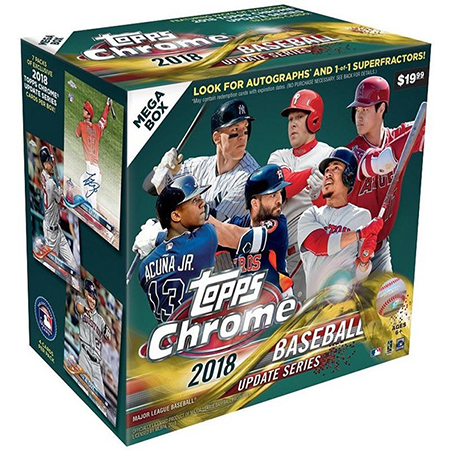 2018 Topps Chrome Update Series Baseball Box