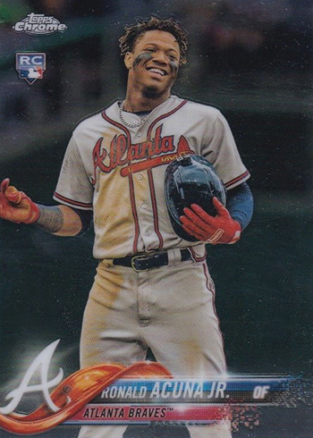 2018 Topps Chrome Update Series Baseball Ronald Acuna