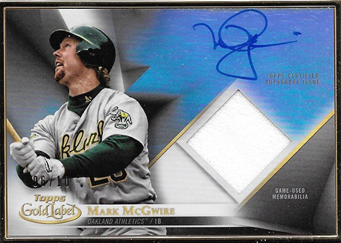 2018 Topps Gold Label Baseball Framed Autograph Relic Mark McGwire