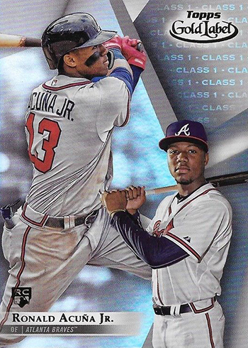2018 Topps Gold Label Baseball Ronald Acuna Jr Class 1