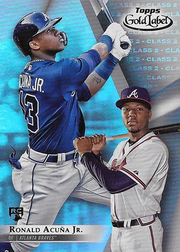 2018 Topps Gold Label Baseball Ronald Acuna Jr Class 2