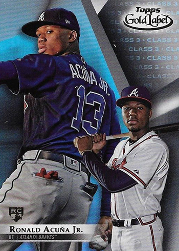2018 Topps Gold Label Baseball Ronald Acuna Jr Class 3