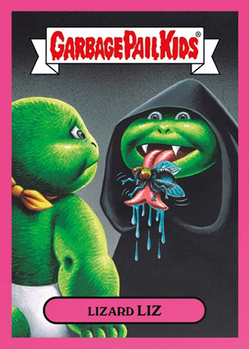 2018 Topps On Demand GPK Memes Pink Lizard Liz