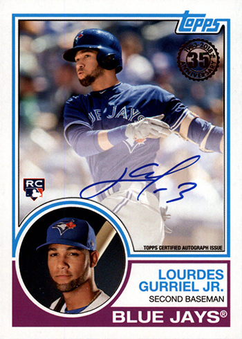 2018 Topps Update Series Baseball 1983 Topps Autographs Lourdes Gurriel Jr