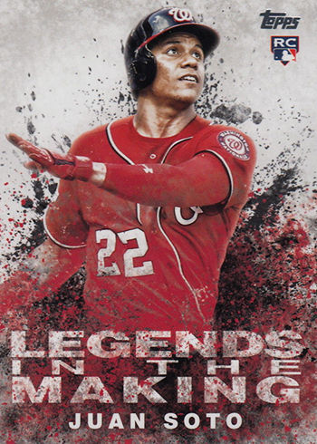 2018 Topps Update Series Baseball Legends in the Making Juan Soto