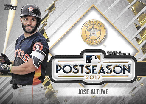 2018 Topps Update Series Baseball MLB Postseason Logo Patch Jose Altuve