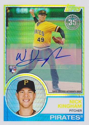 2018 Topps Update Series Silver Packs Nick Kingham Autograph
