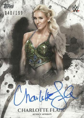 2018 Topps WWE Undisputed Charlotte Flair Autograph