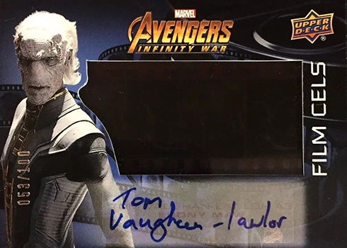 2018 Upper Deck Avengers Infinity War Film Cels Autographs Tom Vaughn-Lawler