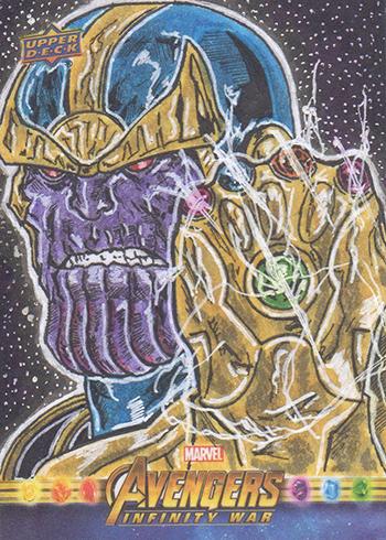 2018 Upper Deck Avengers Infinity War Sketch Card Marlon Fernandes