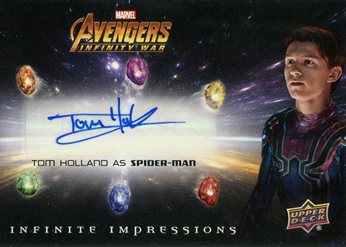 2018 Upper Deck Avengers Infinity War Tom Holland Autograph