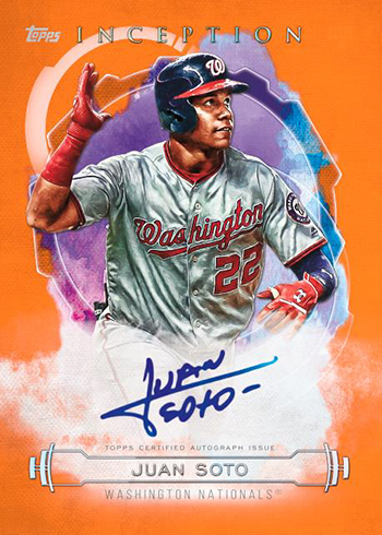 2019 Topps Inception Baseball Base Rookie and Emerging Stars Autographs Orange