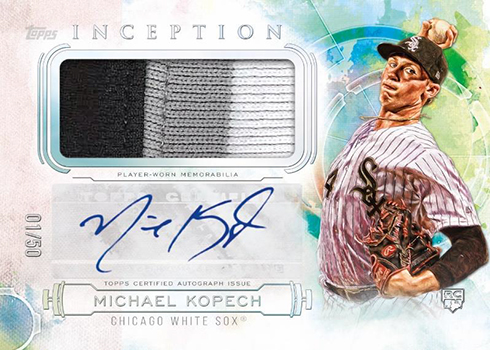 2019 Topps Inception Baseball Inception Autograph Patch