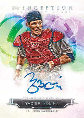 2019 Topps Inception Baseball Inception Legendary Debut Autographs