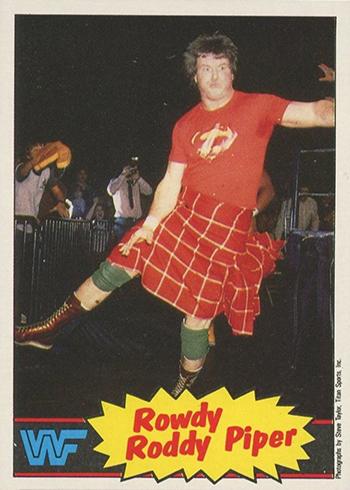 1985 Topps Pro Wrestling Stars WWF Rowdy Roddy Piper