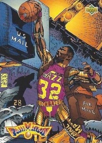 1992-93 Upper Deck Basketball 508 Karl Malone Fanimation