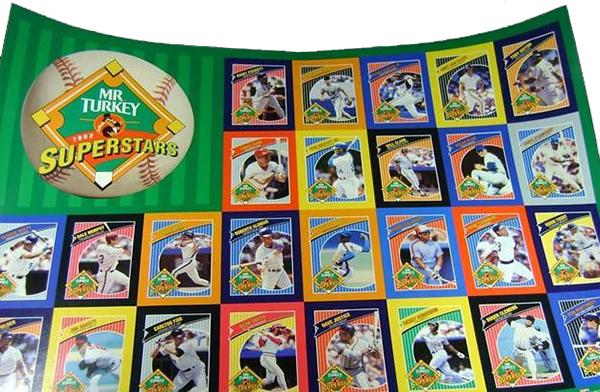 1992 Mr Turkey Superstars Uncut Sheet