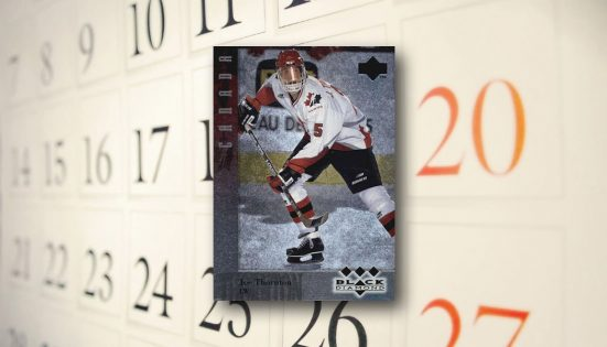 The Daily 1996 97 Upper Deck Black Diamond Joe Thornton Rc