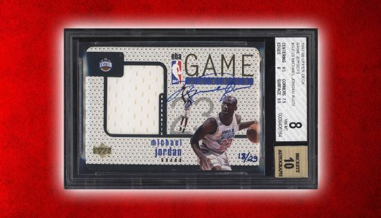 1997-98 Upper Deck Game Jerseys Michael Jordan Autograph Card Nets Over $94,000