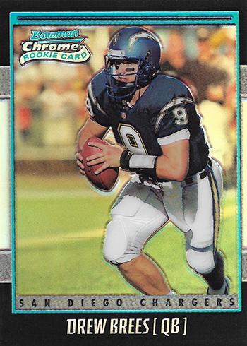 2001 Bowman Chrome Drew Brees RC