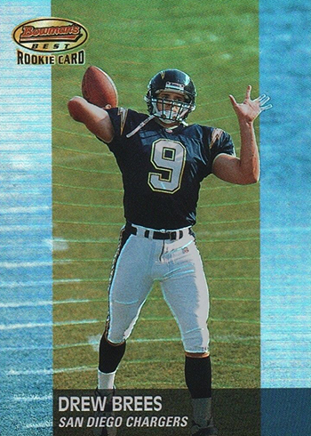 2001 Bowmans Best Drew Brees RC