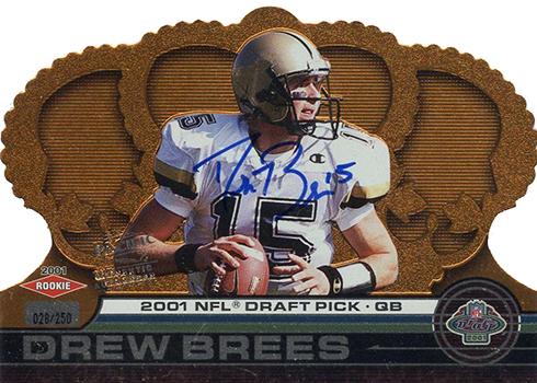 2001 Crown Royale Drew Brees Autograph Rookie Card