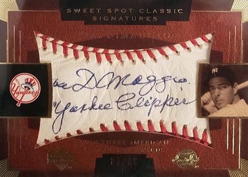 2004 Upper Deck Sweet Spot Classic Joe DiMaggio Autograph