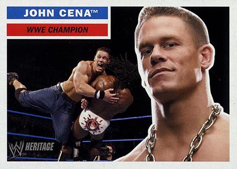 2005 Topps Heritage WWE John Cena Promo Card