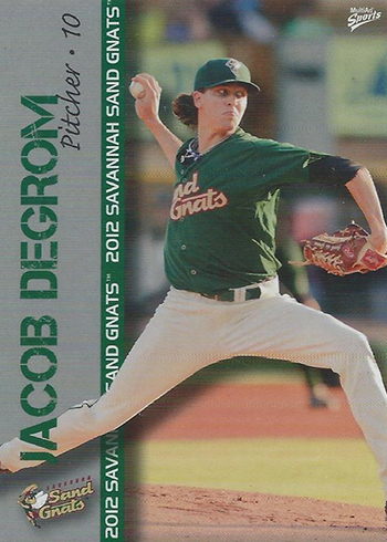 2012 Savannah Sand Gnats Multi-Ad Jacob deGrom