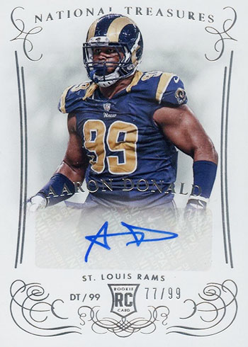2014 Panini National Treasures Aaron Donald Autograph