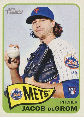 2014 Topps Heritage Jacob deGrom Rookie Card