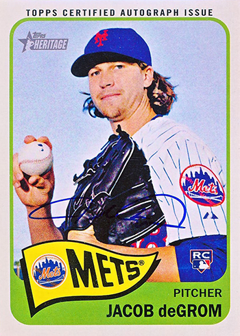 2014 Topps Heritage Real One Autographs Jacob deGrom