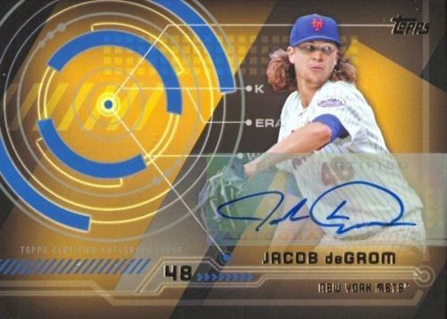 2014 Topps Update Trajectory Autographs Jacob deGrom