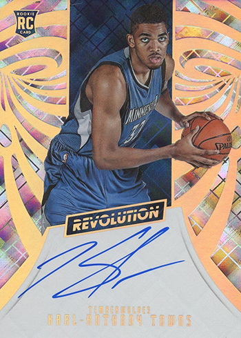 2015-16 Panini Revolution Karl Anthony Towns Autograph