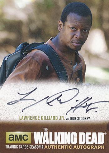 2016 Cryptozoic Walking Dead Season 4 Part 2 Autographs Lawrence Gilliard Jr