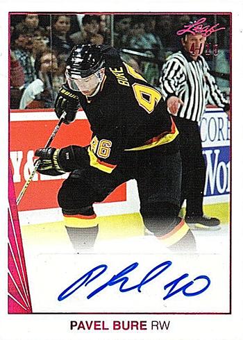 2017-18 Leaf Hockey 1990 Leaf Autographs Pavel Bure
