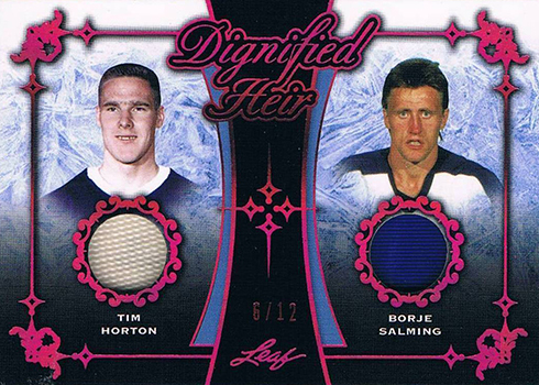2017-18 Leaf Hockey Dignified Heir Tim Horton Borje Salming